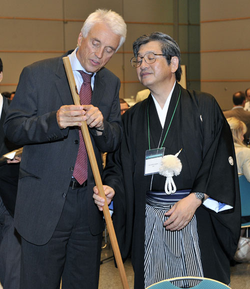 Walking Stick Thank You from Karl Mann to Toshikazu Saito